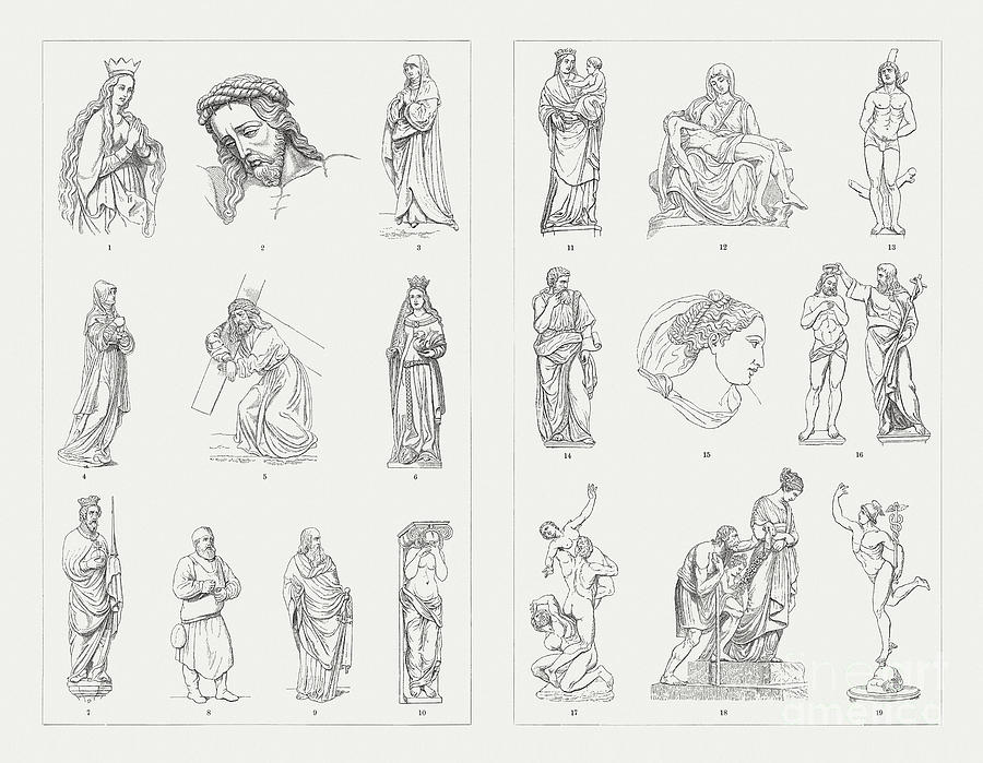 German And Italian Sculptures Digital Art by Zu 09