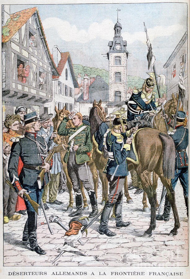German Deserters At The French Drawing by Print Collector
