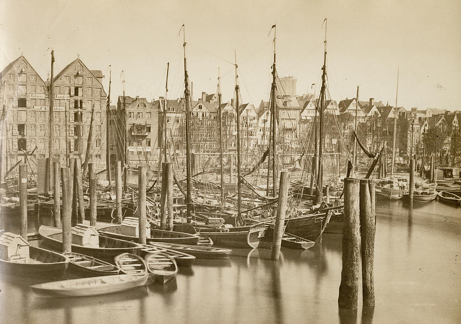 German Harbour Photograph by Hulton Archive