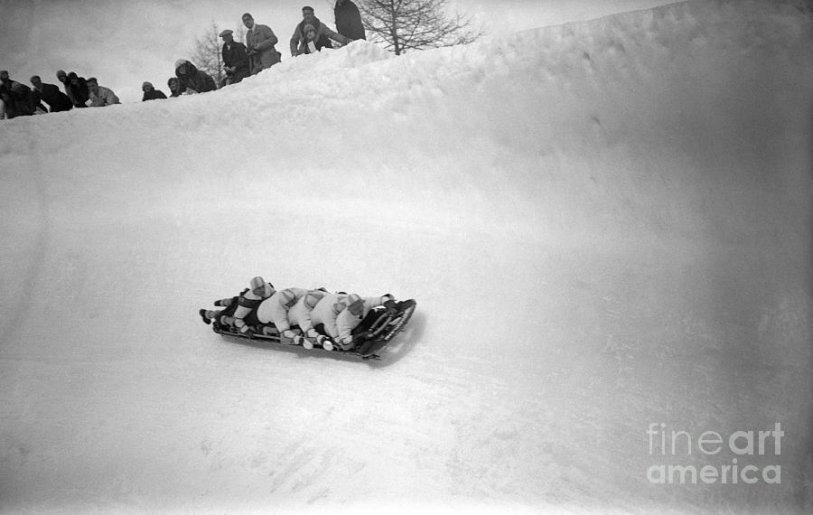 German Olympic Bob Sled Team Photograph by Bettmann