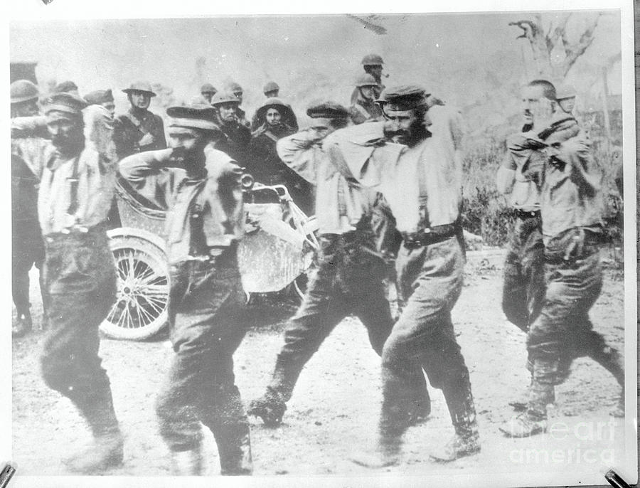 German Pows Are Marched To Prison Camps Photograph by Bettmann