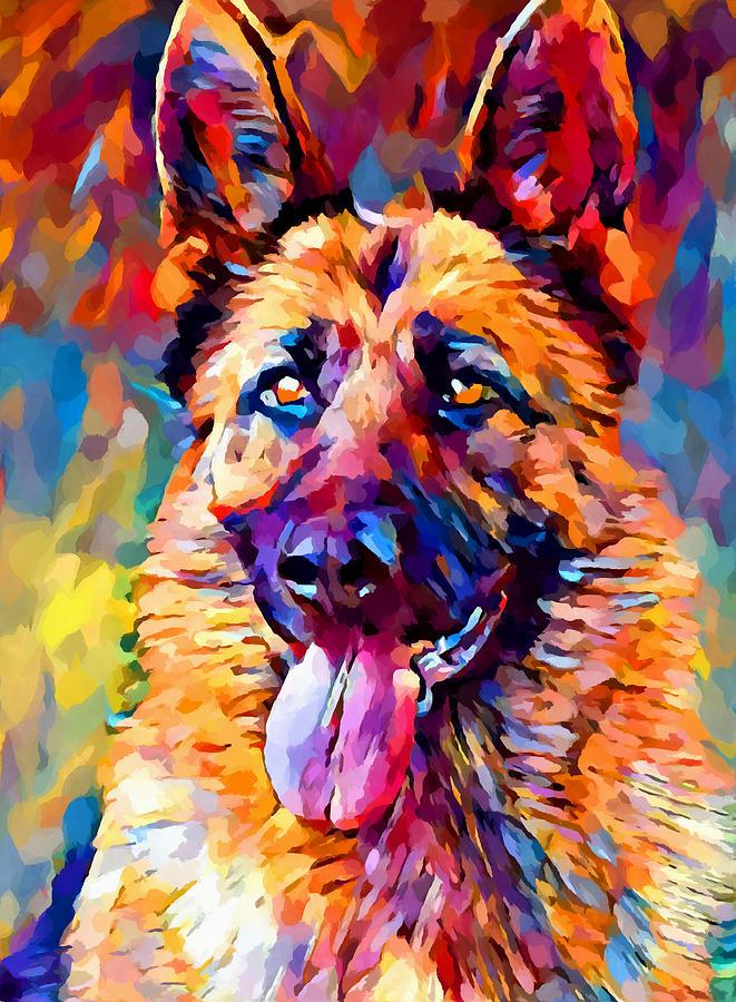 German Shepherd Painting - German Shepherd 11 by Chris Butler