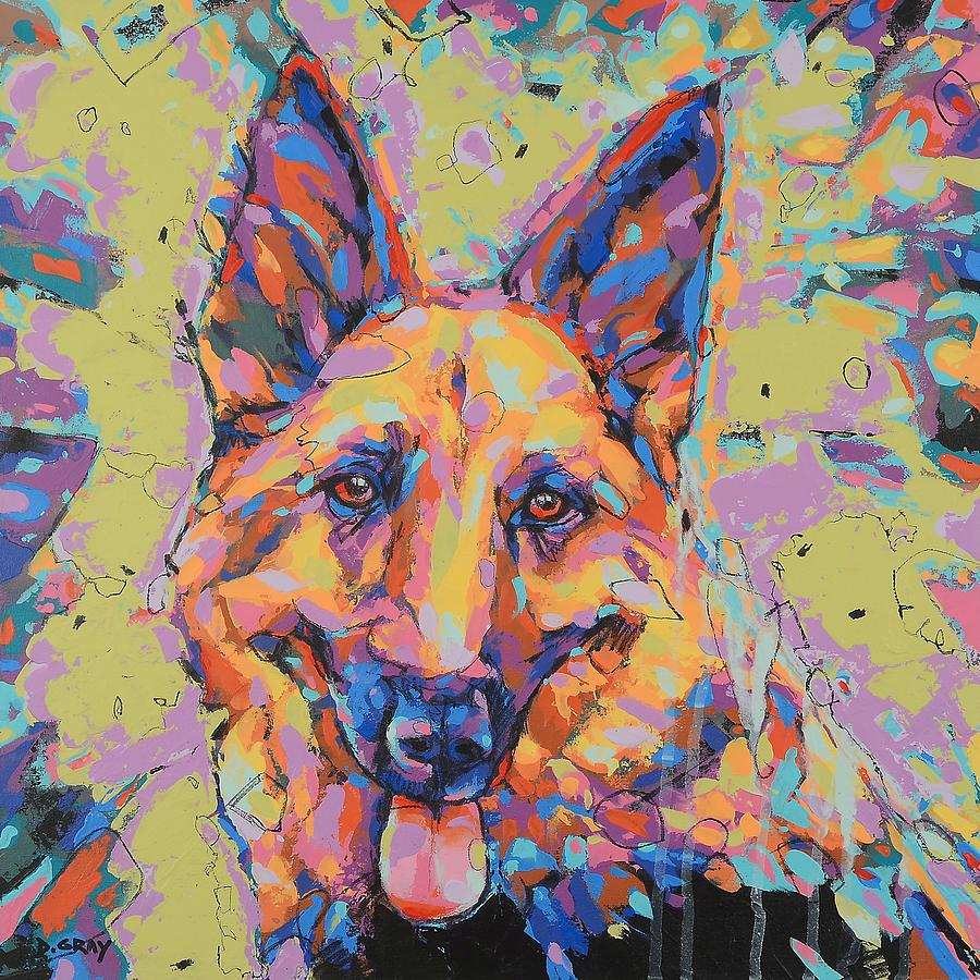 German Shepherd in Color by Damon Gray