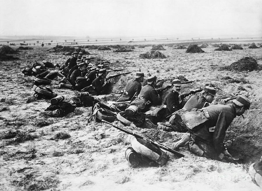 German Soldiers With Rifles Photograph by Bettmann