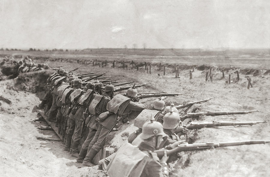 German Trench Photograph by Fpg