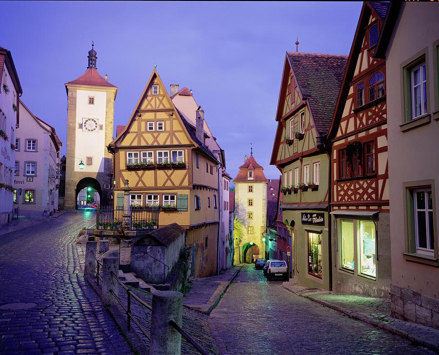 Germany, Bavaria, Rothenburg Ober Der Photograph by Walter Bibikow