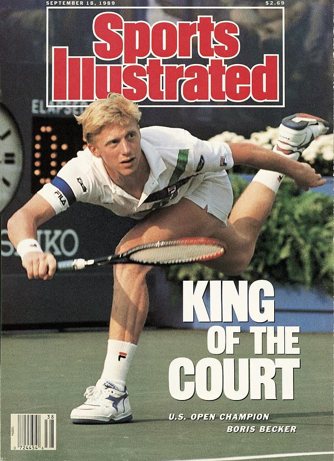 Germany Boris Becker, 1989 Us Open Sports Illustrated Cover Photograph by Sports Illustrated