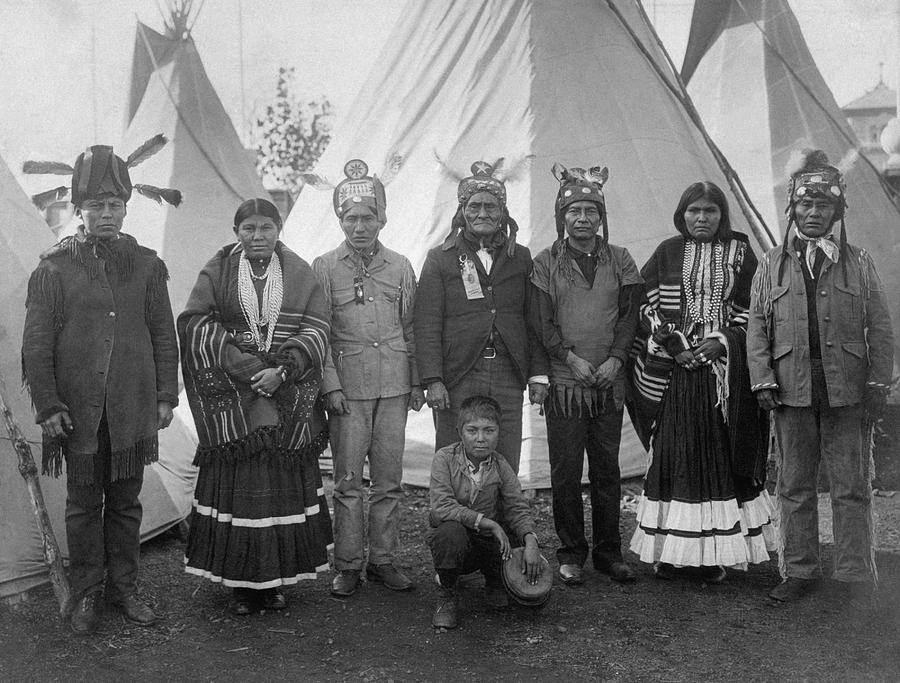 Geronimo And Other Apache - Louisiana Purchase Exposition - 1904 by War Is Hell Store