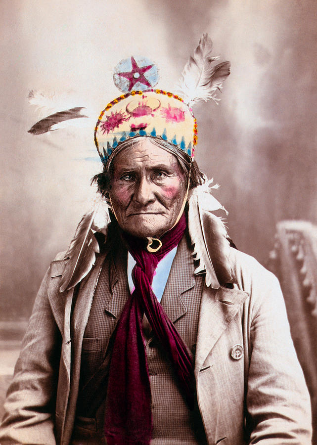 Geronimo Photochrom Portrait - 1903 by War Is Hell Store