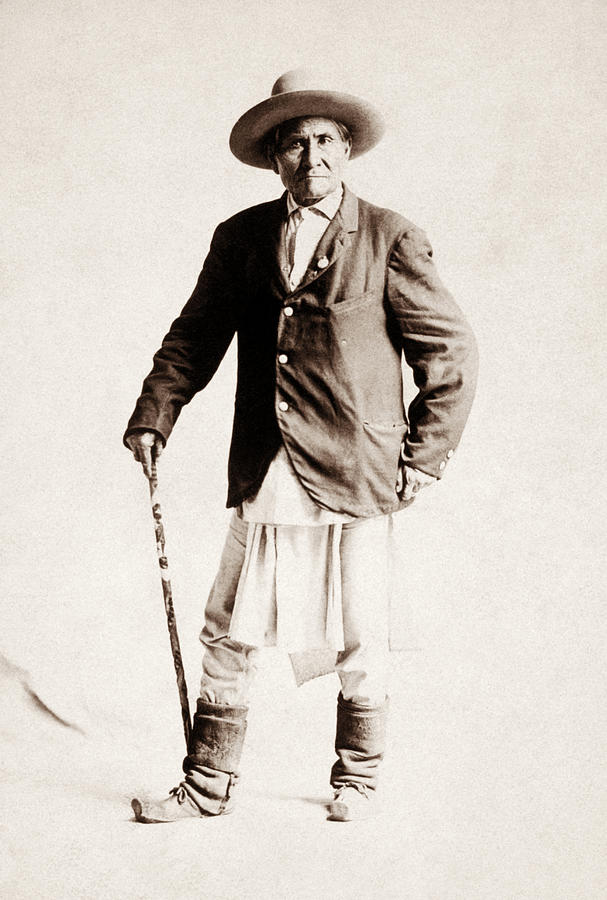 Geronimo Standing Portrait - 1904 by War Is Hell Store