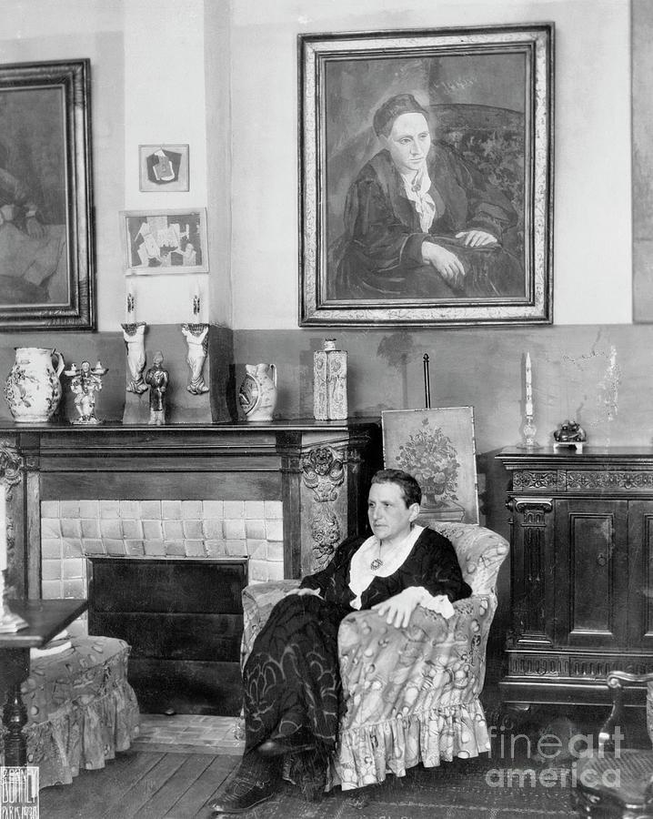 Gertrude Stein Relaxing In A Chair Photograph by Bettmann