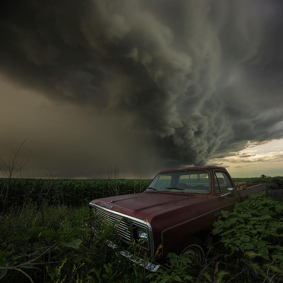 Severe Photograph - Get outta Dodge  by Aaron J Groen