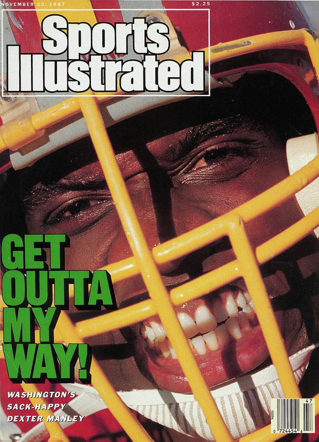 Get Outta My Way Washingtons Sack-happy Dexter Manley Sports Illustrated Cover Photograph by Sports Illustrated