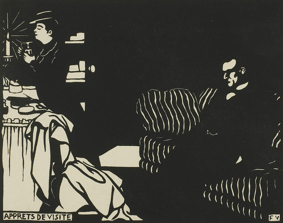 Getting Ready for a Visit, plate eight from Intimacies by Felix Edouard Vallotton