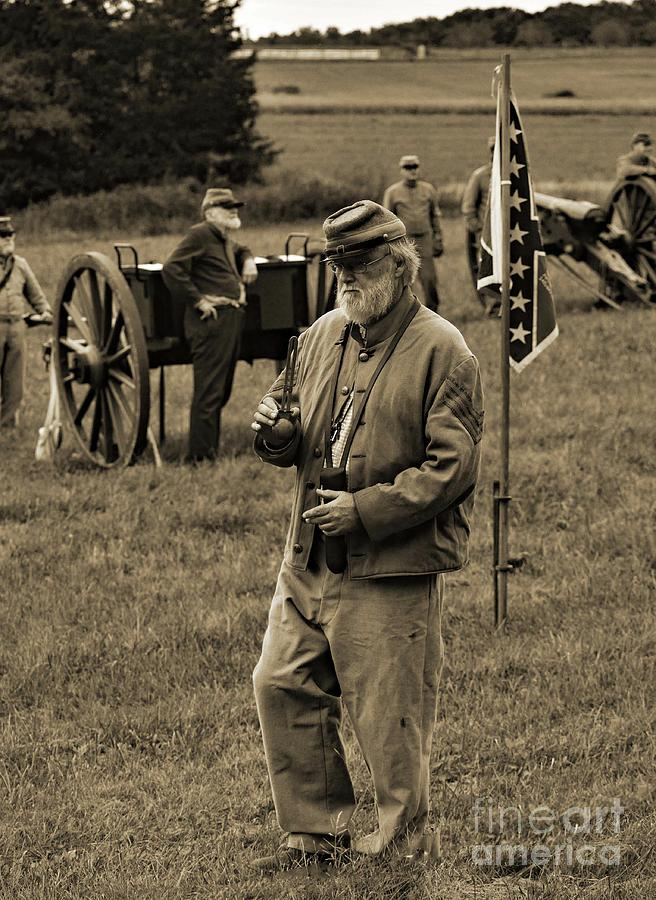 Gettysburg Battlefield - Confederate Artilleryman Photograph