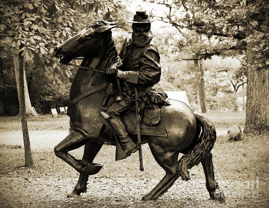 Gettysburg Battlefield - Lt. Gen. James Longstreet Photograph