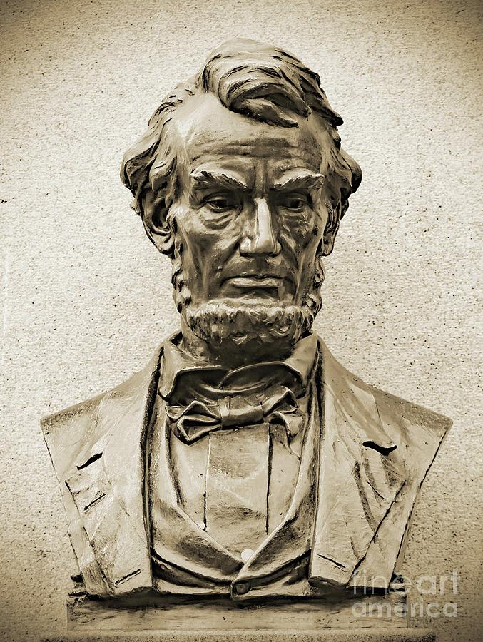 Artwork Photograph - Gettysburg Battlefield - President Abraham Lincoln by Cindy Treger
