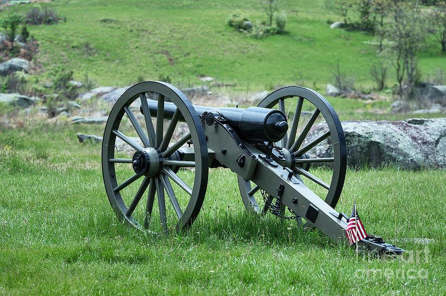 Adams County Photograph - Gettysburg Cannon by John Greim