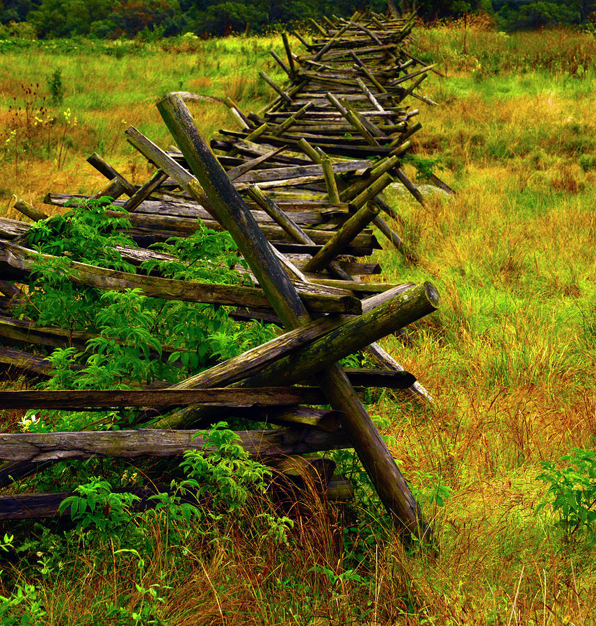 Gettysburg Picket Fence Battle Line by Paul W Faust - Impressions of Light