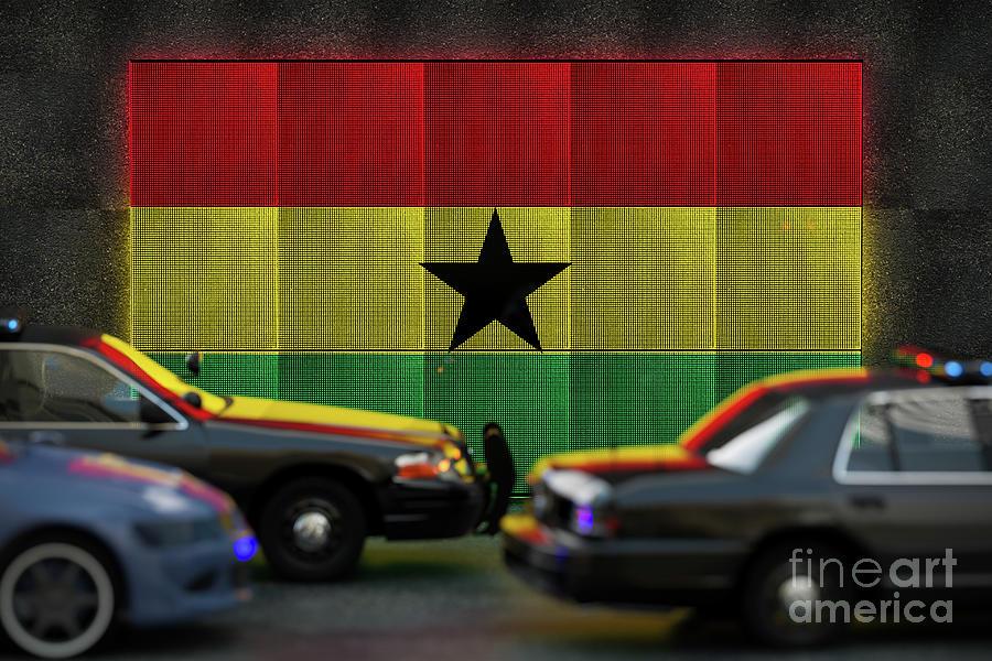 Ghana Flag Photograph by Derek Brumby