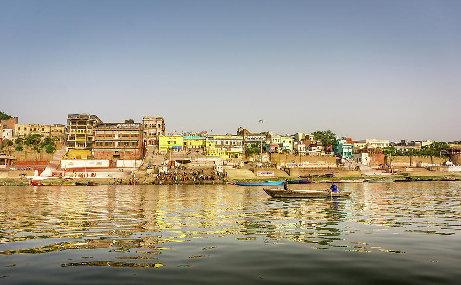 Ghat Varanasi India by Gary Gillette