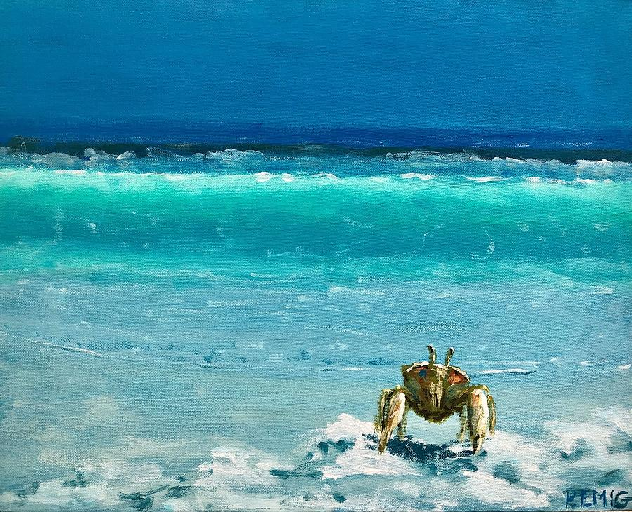Ghost Crab Painting - Ghost Crab by Paul Emig