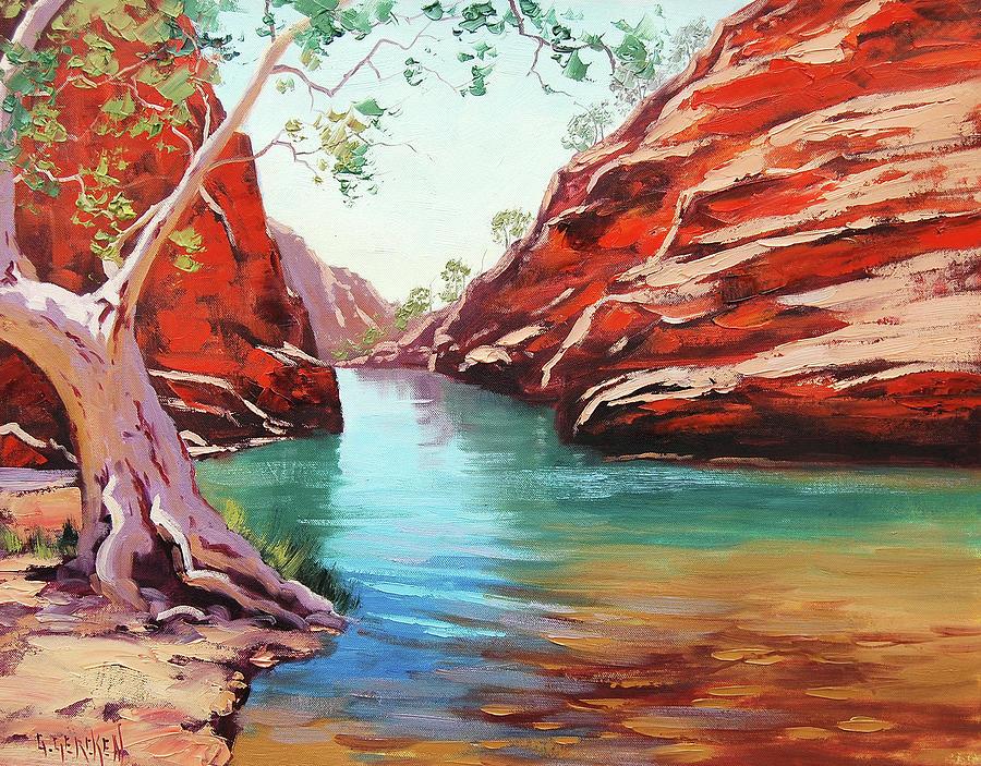 Ghost Gum Alice Springs Painting