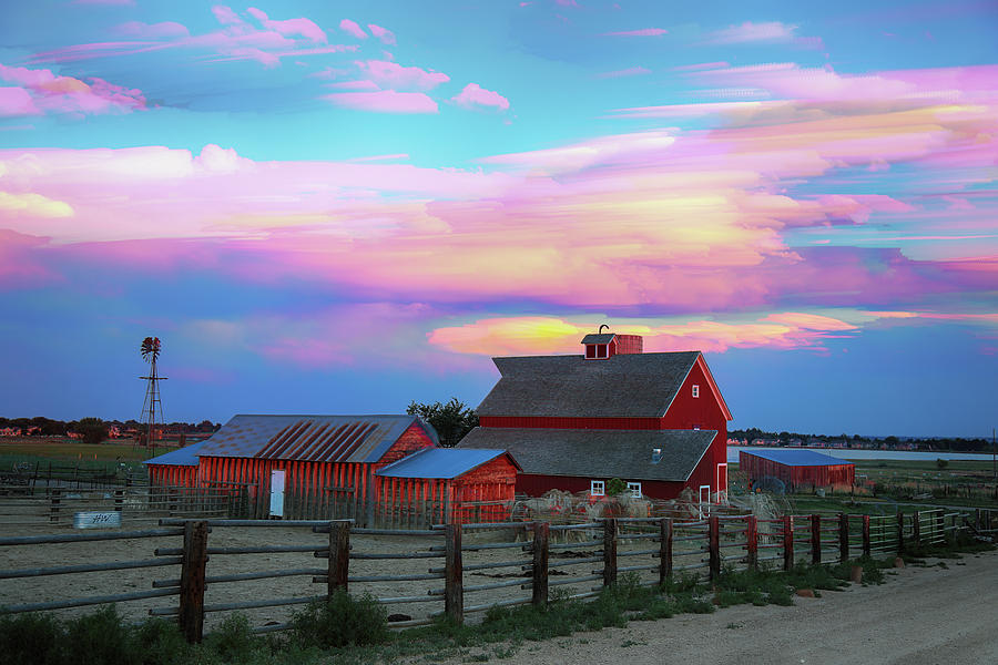 Ghost Horses Pastel Sky Timed Stack by James BO Insogna