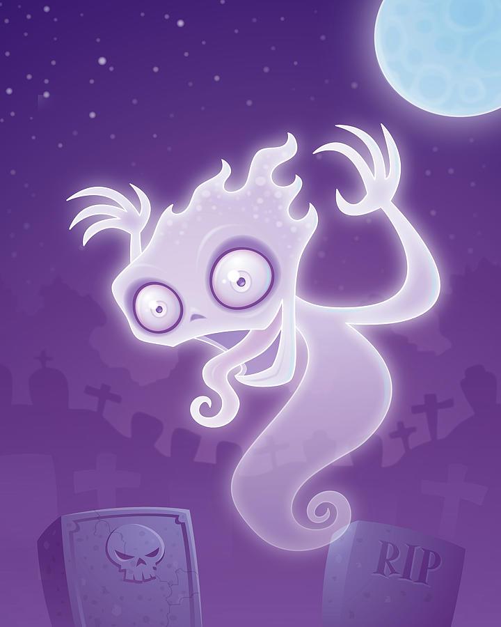 Ghost In The Graveyard Digital Art