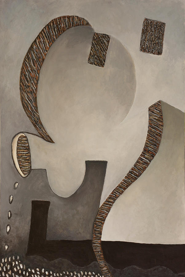 Geometric Abstracts Painting - Ghost of a Machine by David Douthat