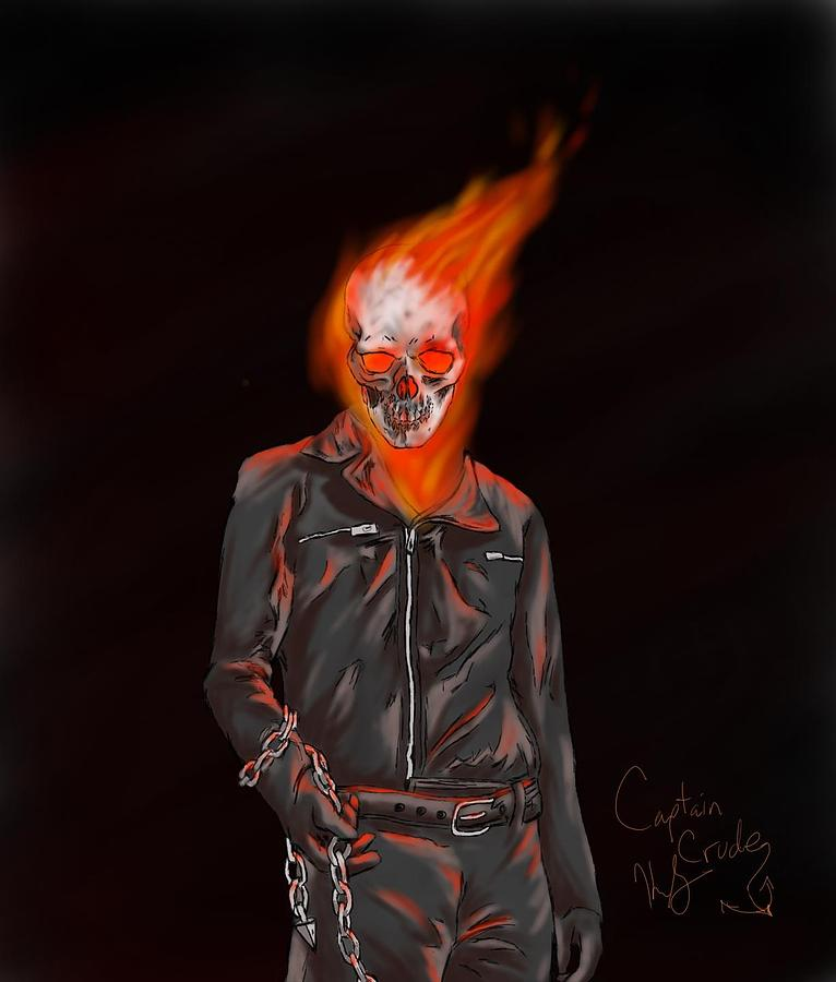Ghost Rider Drawn by Photoshop-Pro-Torch on DeviantArt  |Ghost Rider Digital Painting Photoshop