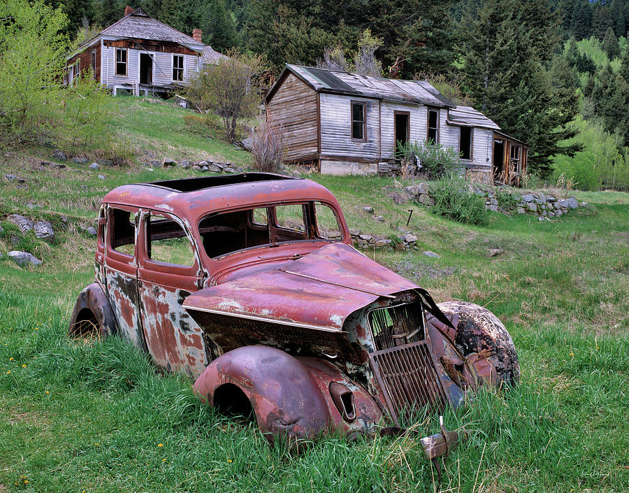 Montana Photograph - Ghost Town by Leland D Howard