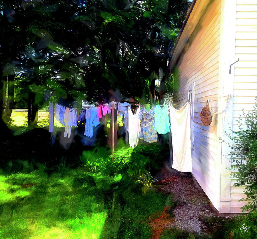 Ghost Wind in the Washline by Wayne King