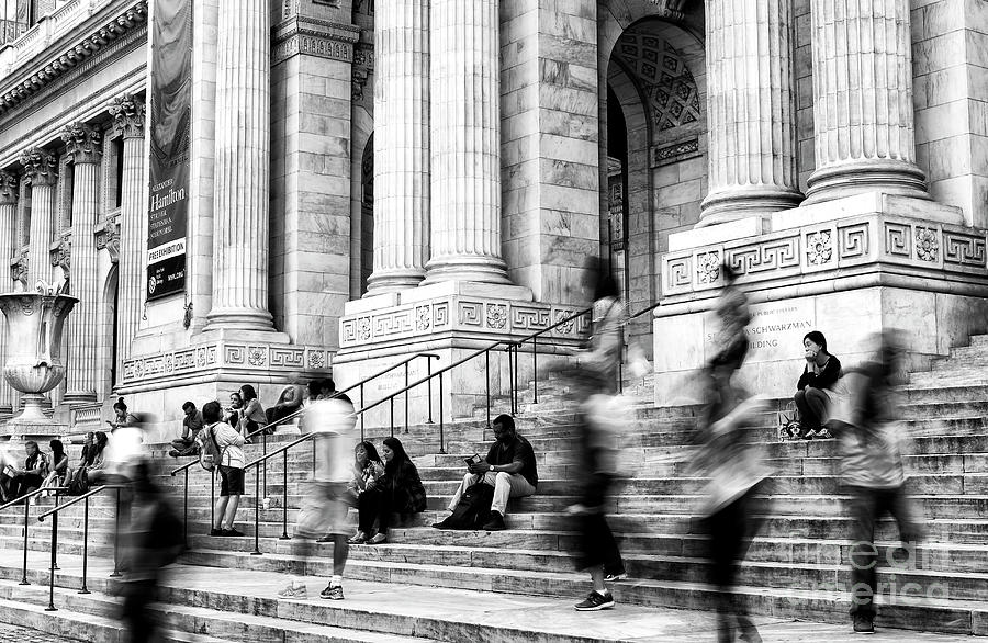 Library Photograph - Ghosts At The New York Public Library by John Rizzuto