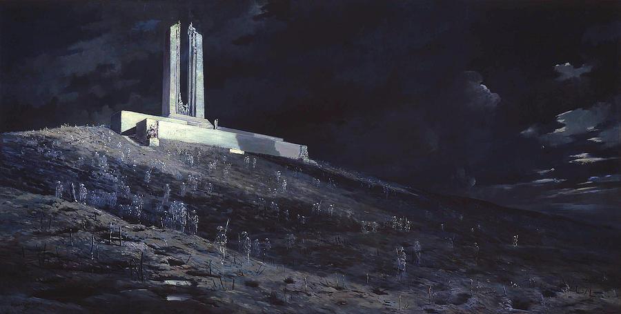 Panorama Painting - Ghosts Of Vimy Ridge by Mountain Dreams