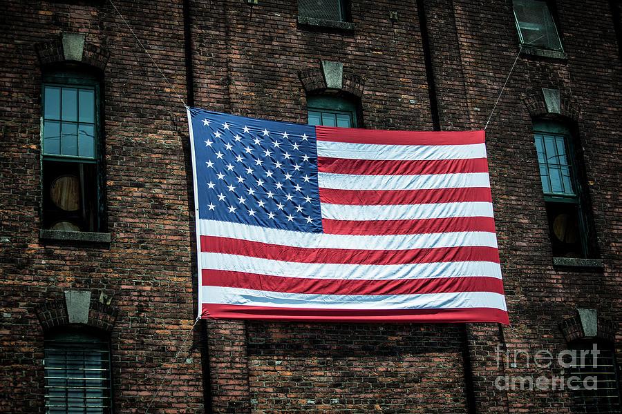 Giant American Flag - Buffalo Trace Bourbon Distillery - Frankfort - Kentucky  by Gary Whitton