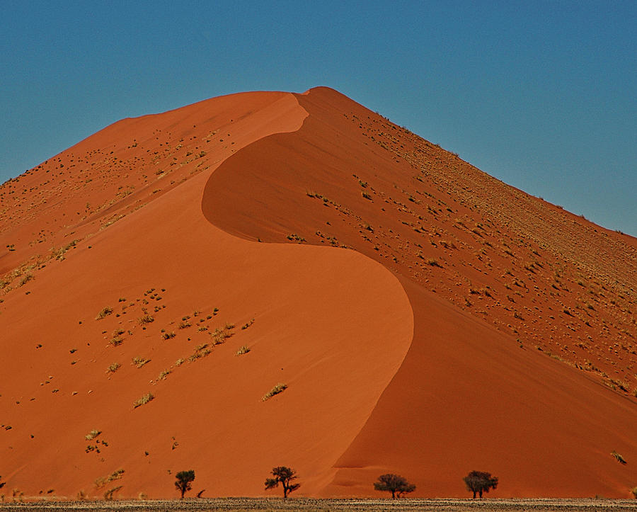 Sand Photograph - Giant Sand Dune At Soosusvlei, Namibia by Michael Briley