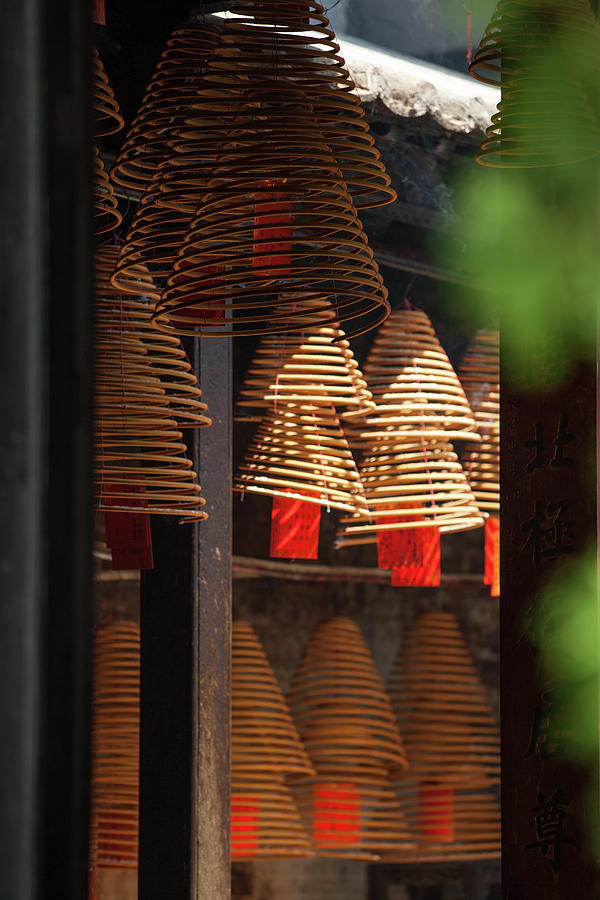 Giant Incense Coils At A-ma Temple Photograph by Greenlin
