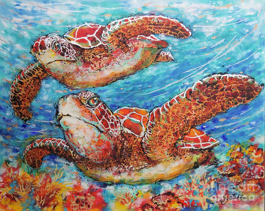 Giant Sea Turtles by Jyotika Shroff