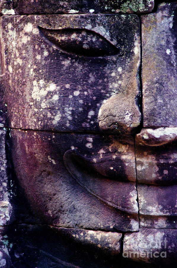 Khmer Photograph - Giant Smiling Face Bayon Temple, Angkor by Djuly