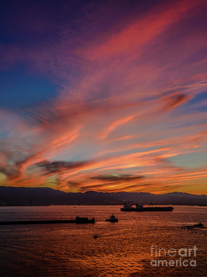 Gibraltar Sunset by David Meznarich