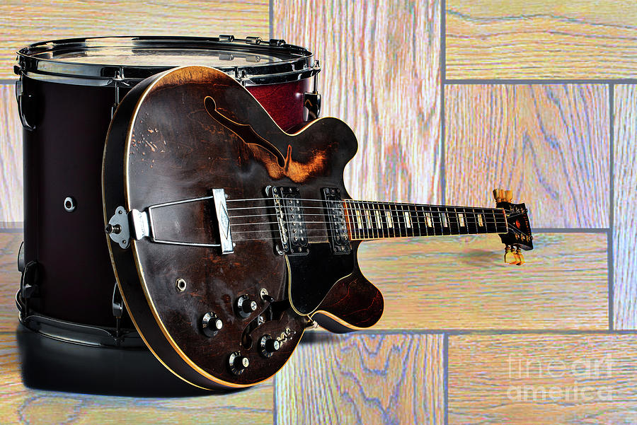Gibson Guitar Image and Drum 1744.007 by M K Miller