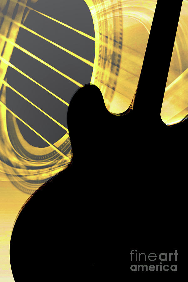 Gibson Guitar Image in Silhouette 1744.02 by M K Miller