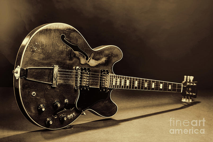 Gibson Guitar Images On Stage 1744.015 by M K Miller