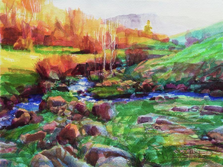 Gilded Hillside Painting