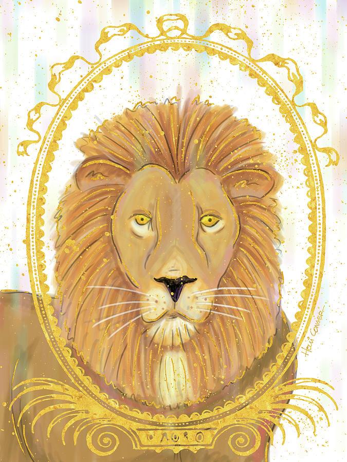 Lions Digital Art - Gilded Safari 2 by Holli Conger
