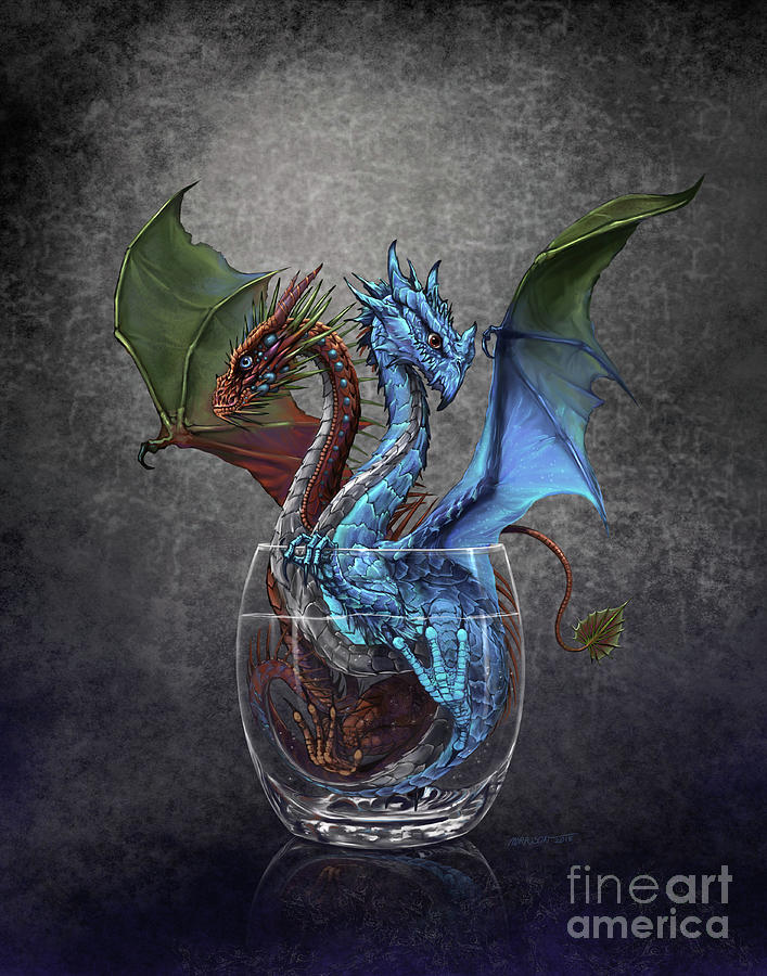 Gin Digital Art - Gin And Tonic Dragon by Stanley Morrison