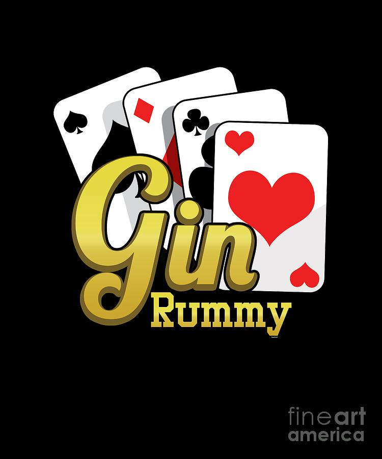 Gin Rummy Cards Twoplayer Card Game French Cards Rum And Gin Gift