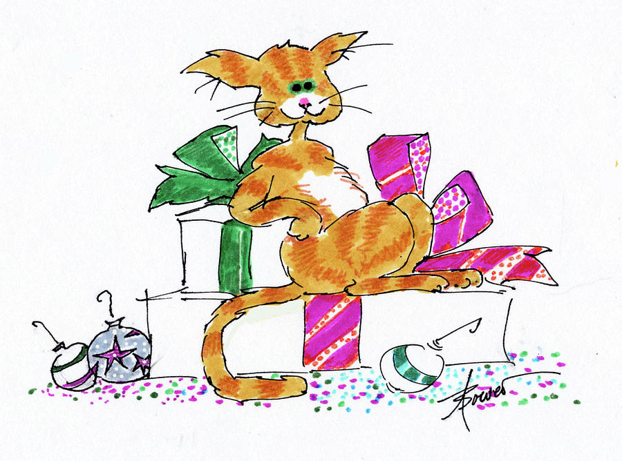 Ginger Cat's Christmas by Adele Bower