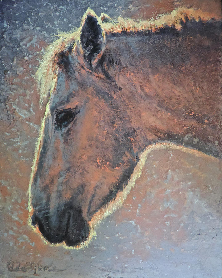 Equine Painting - Ginger Snap by Mia DeLode